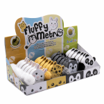 0 253.MET.ZOO.4 FLUFFY ANIMAL TAPE MEASURE